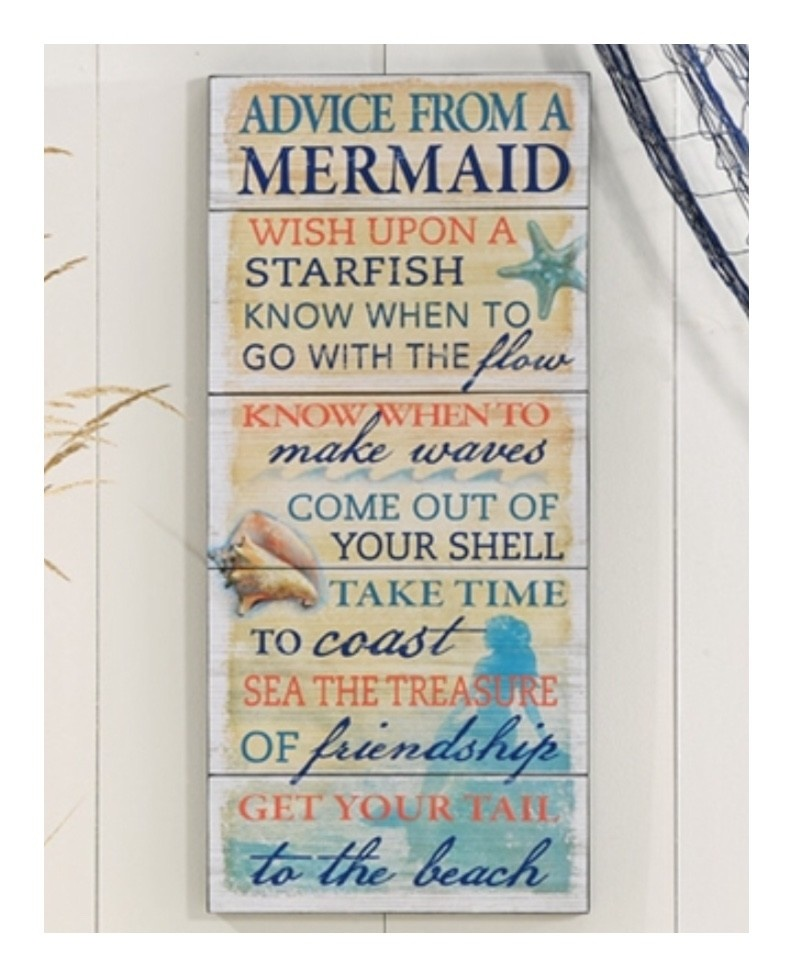 Advice From A Mermaid Wall Plaque