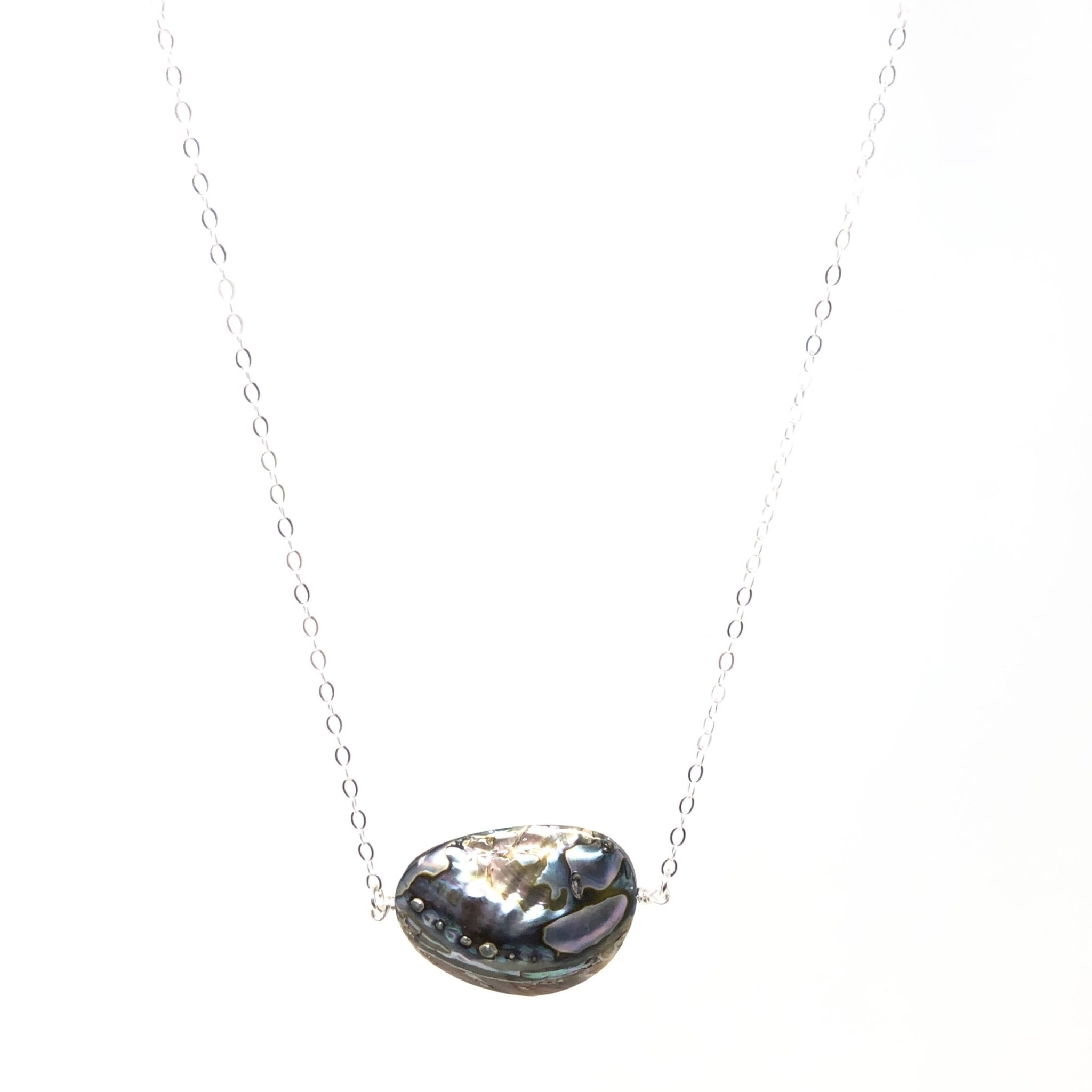 Large Abalone on Sterling Chain