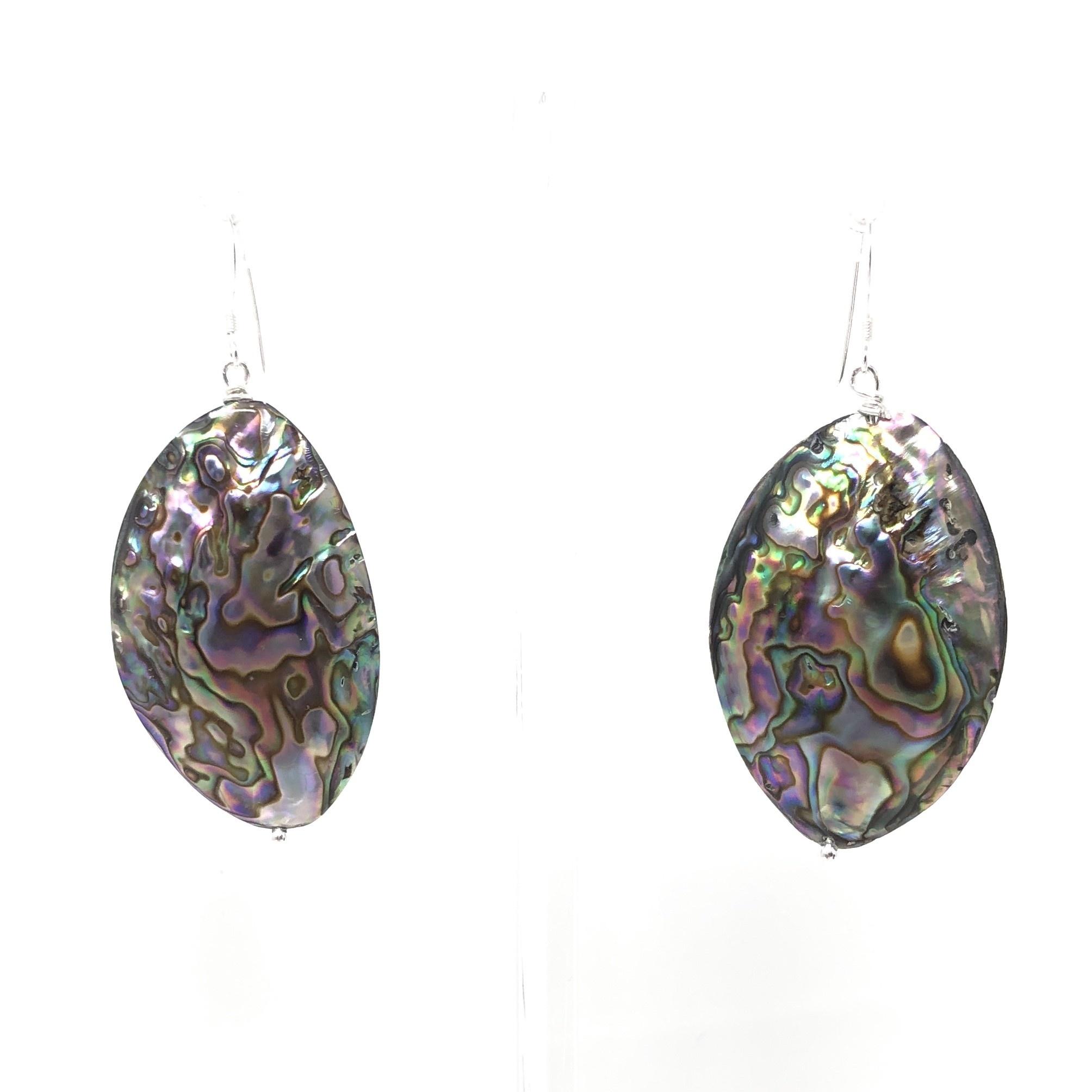 Large Abalone Earrings