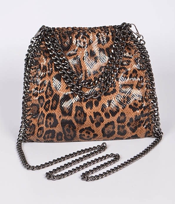 Large Leo Print Chain Bag