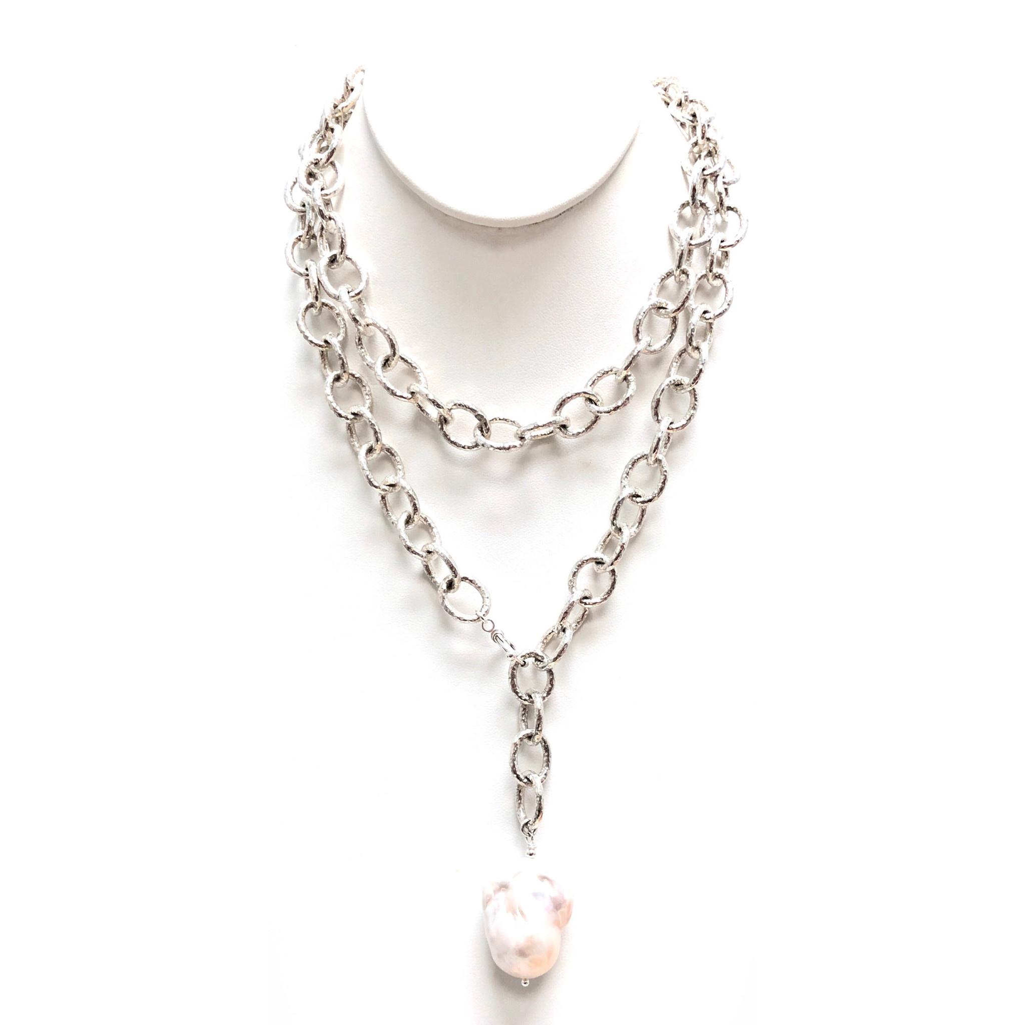 Baroque Pearl on Chunk SO Chain