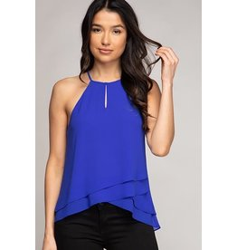 Capri Blue Double Layer Keyhole Tank
