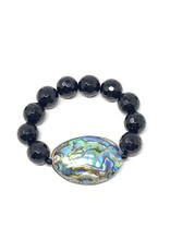 Abalone & Onyx Bracelet