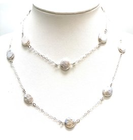 FW Coin Pearls on Sterling Chain