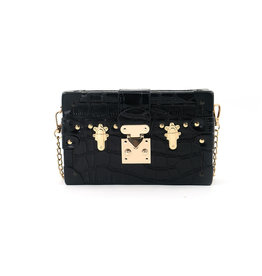 Black Grace Box Clutch