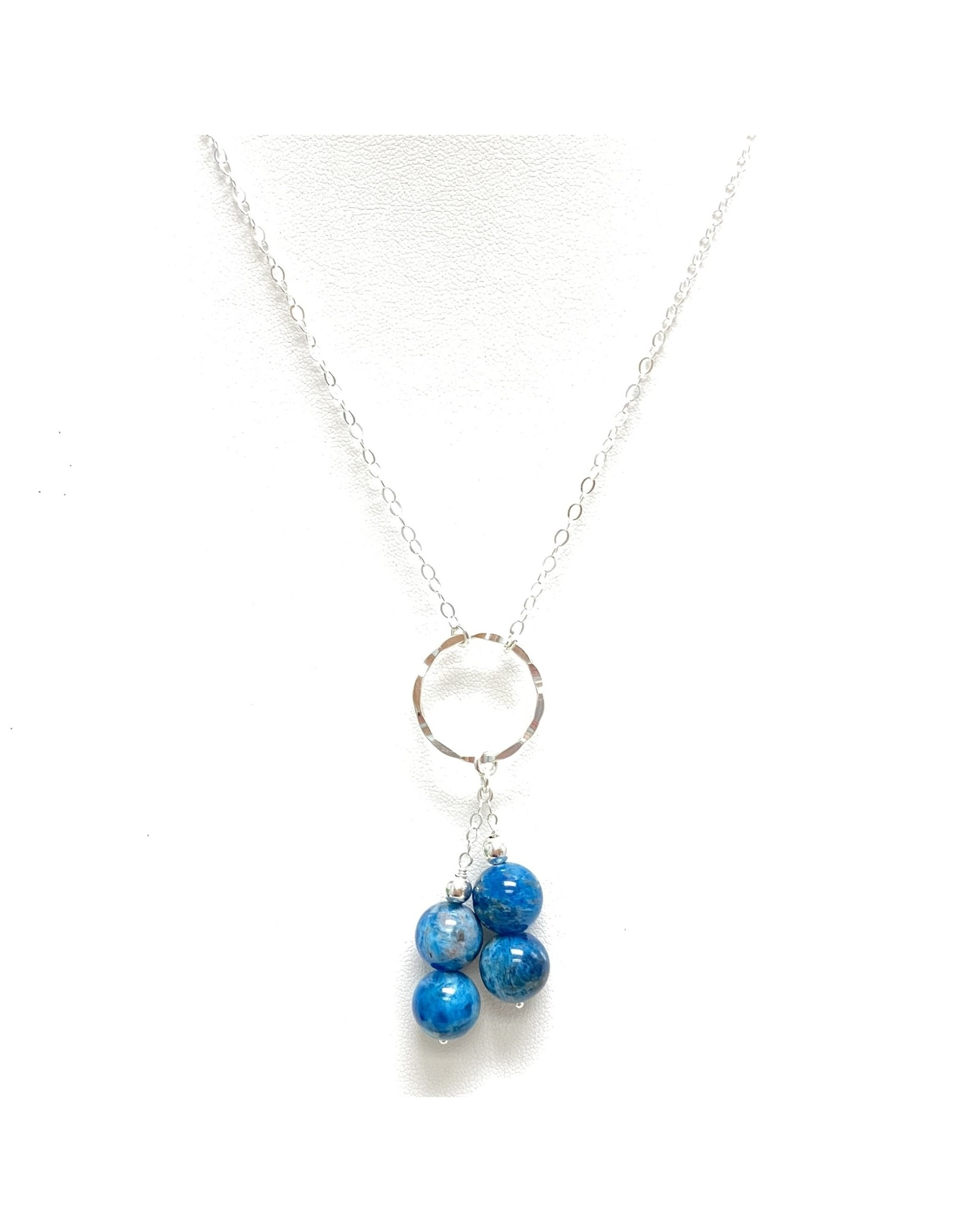 Sterling Apatite Drop Necklace