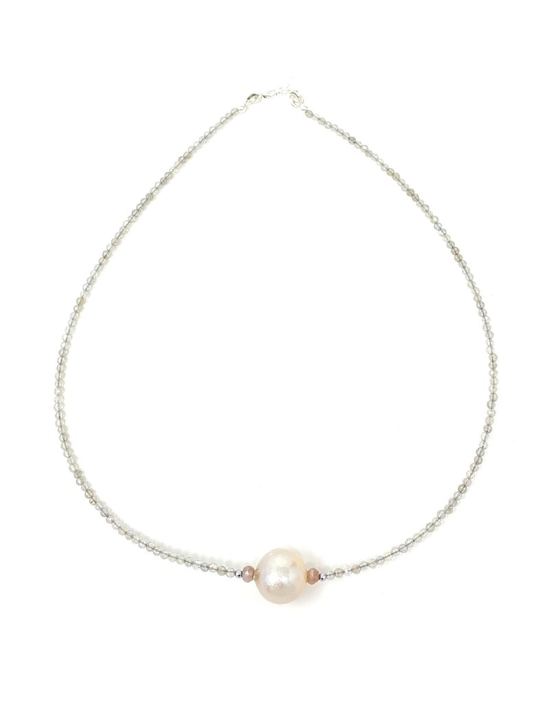 Blush Baroque Pearl & Moonstone Necklace