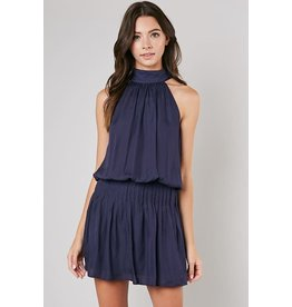 Navy Blair Halter Dress