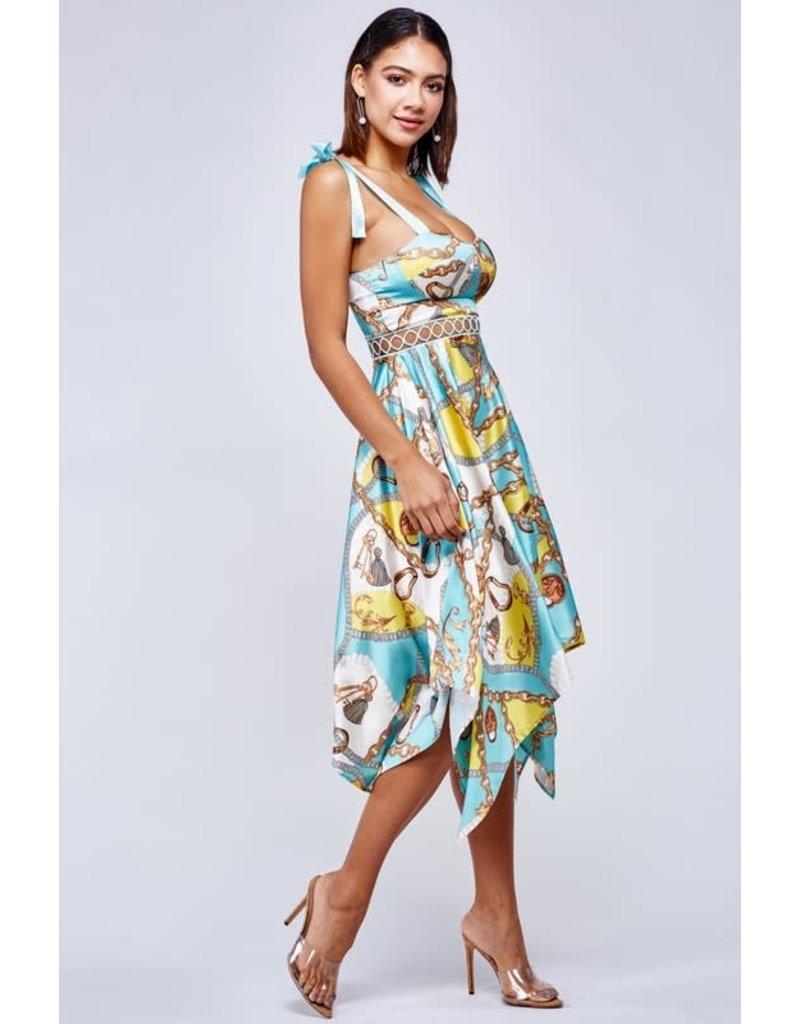 Halsey Chain Handkerchief Dress