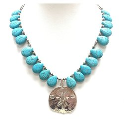 Pyritel & Turquoise (H) Teardrop Necklace