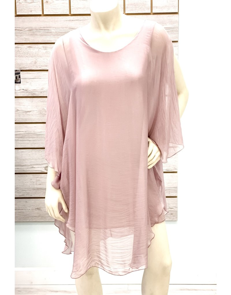 Mauve Silk Goddess Dress