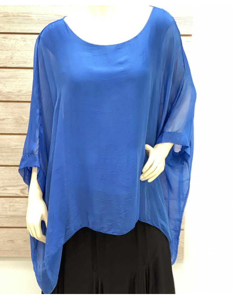 Royal Silk Sleeve Top