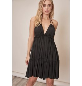 Mustard Seed Black Hayden Halter Dress