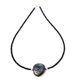 Spinel &  Abalone Necklace