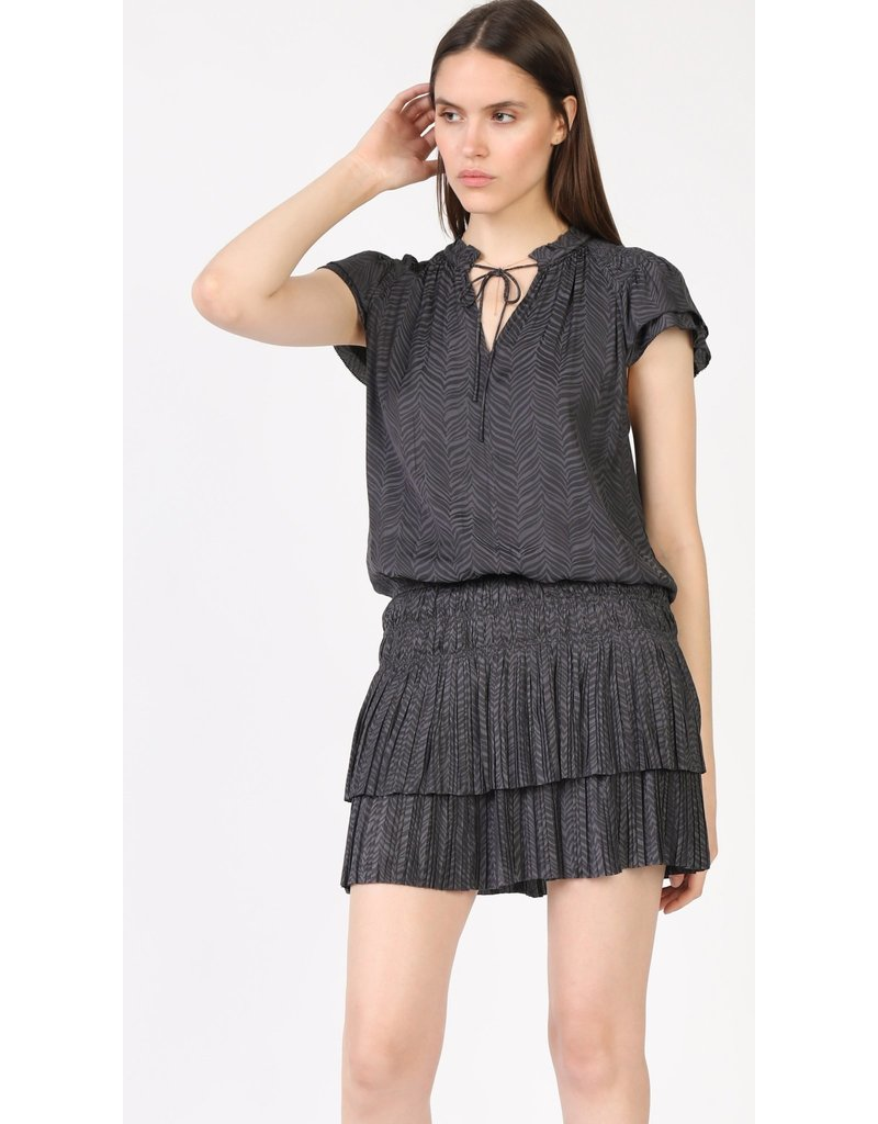 Current Air Charcoal Zebra Pleated Mini