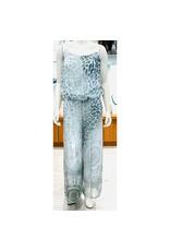 Grey Cheetah Silk Jumpsuit