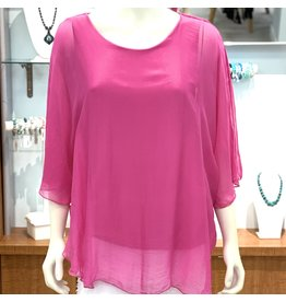 Hot Fuschia Silk Angel Top
