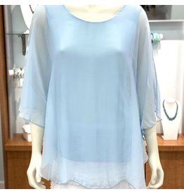 Baby Blue Silk Angel Top