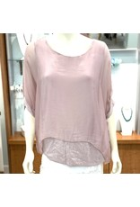 Mauve Silk Sequin Layer Top