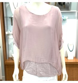 Mauve Silk Sequin Layer Top