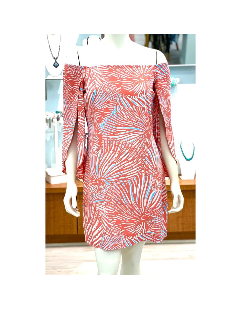 La Mer Lux Coral Shell Ashby Dress