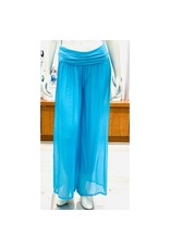 Turquoise Silk Lined Pants