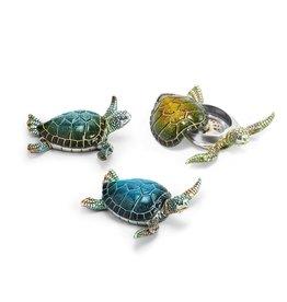 Turtle Hand-Painted Trinket Box