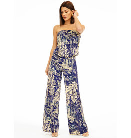 Veronica M Floreen Tube Wide Leg Jumpsuit