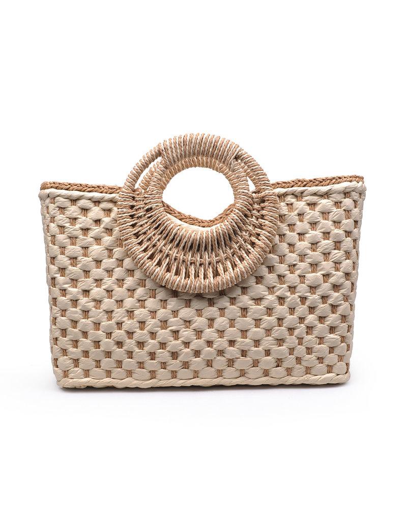 Basket Weave Kelly Tote