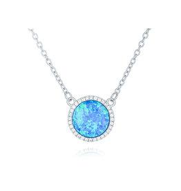 CZ Opal Necklace