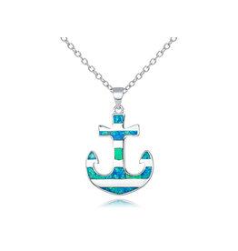Striped Opal Anchor Pendant