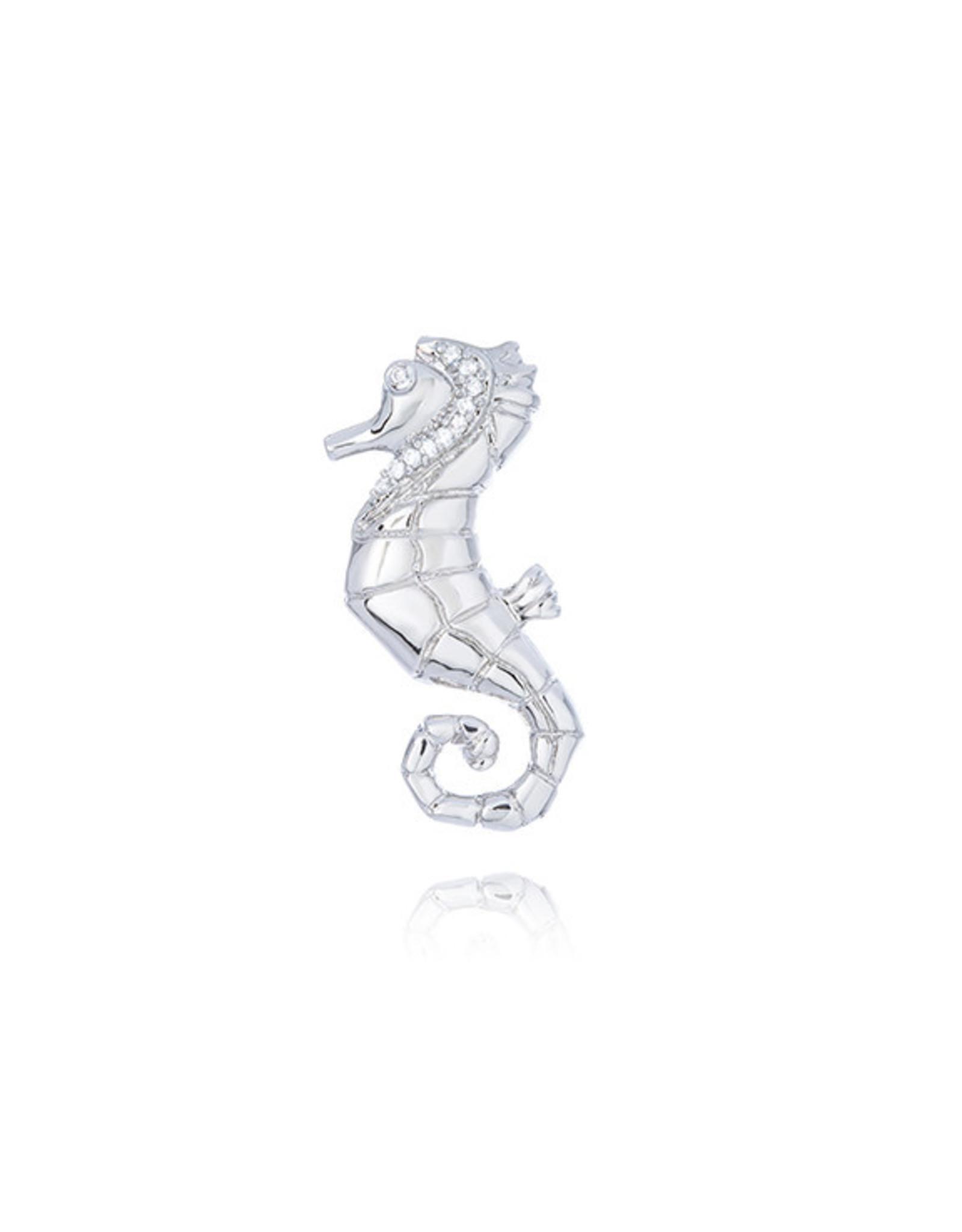 CZ Seahorse Broach/Pendant