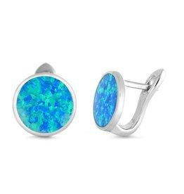 Opal French Clip Stud Earrings