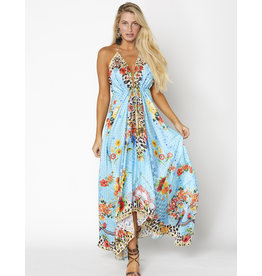 Ranees Into The Blue Handkerchief Maxi