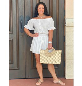Ocean Drive Aria Crochet Trim Dress