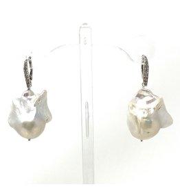 A++ Lg. Baroque CZ Leverback Earrings