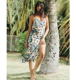 XIX Palms Havanah Slit Midi Dress