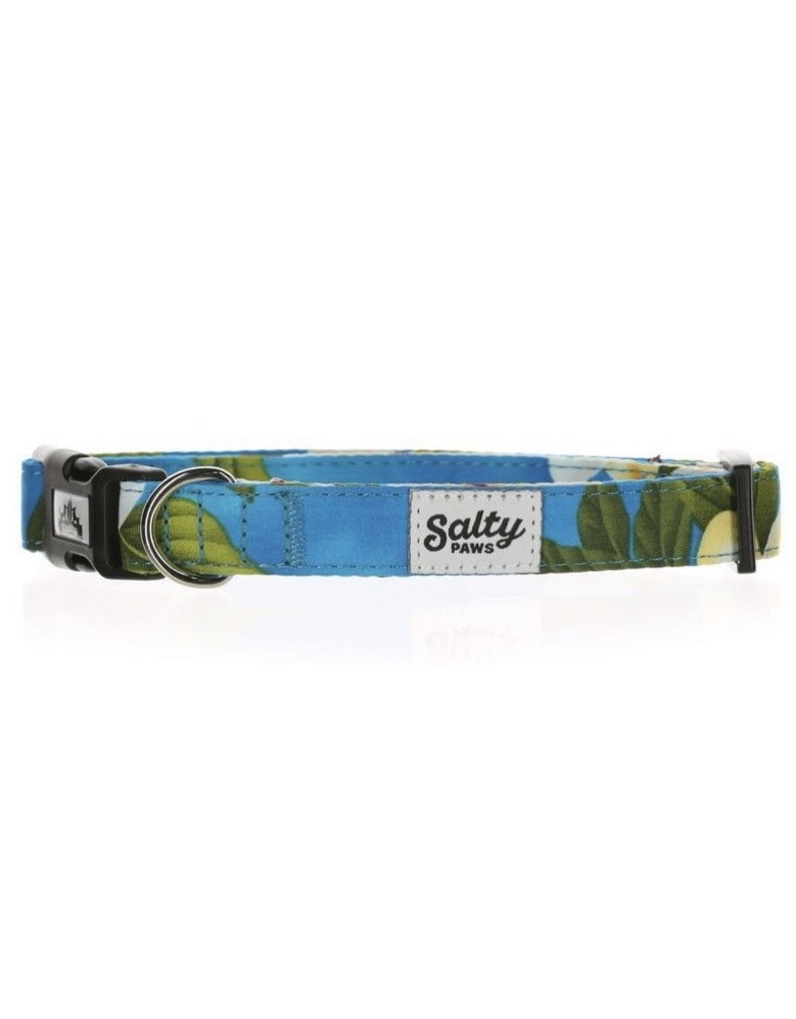 Salty Paws Blue Floral Dog Collar