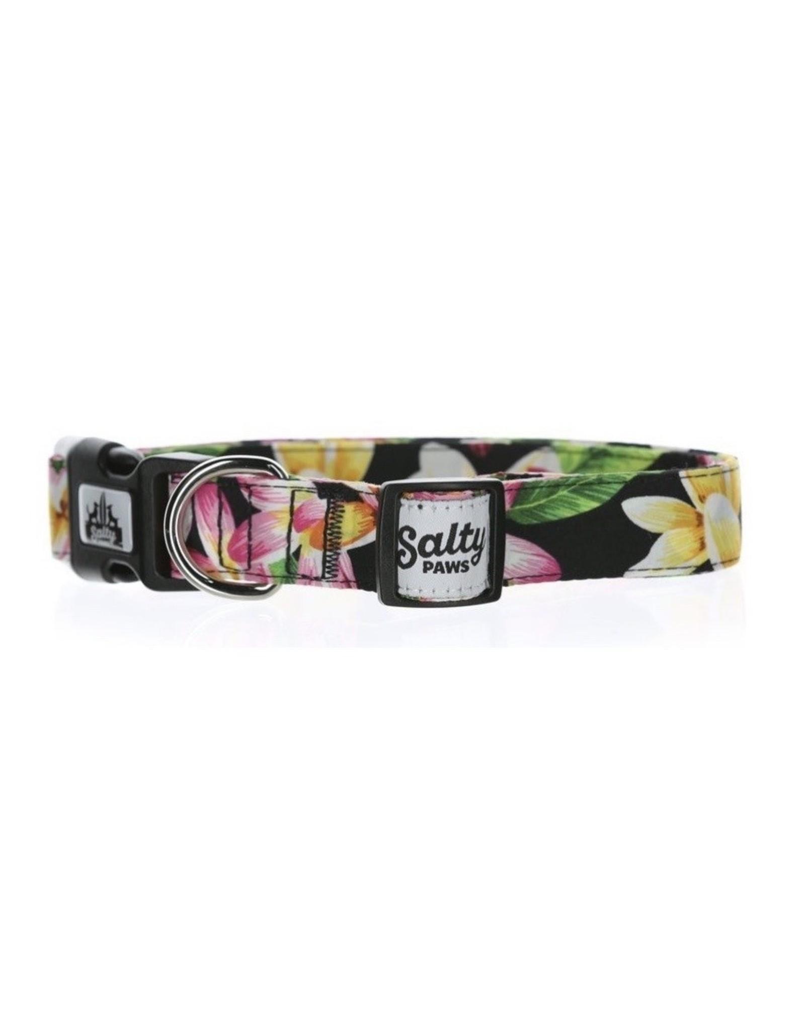 Salty Paws Black Hawaii Dog Collar