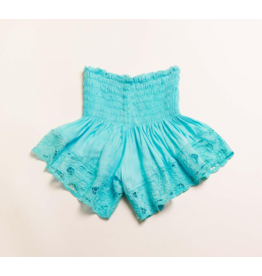 Bali Queen Turquoise Embroidered Shorts