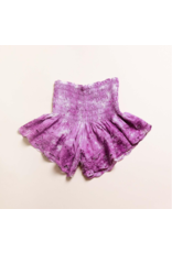 Bali Queen Purple Embroidered Shorts
