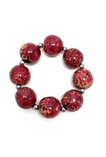 Red Tagua Nut Bracelet