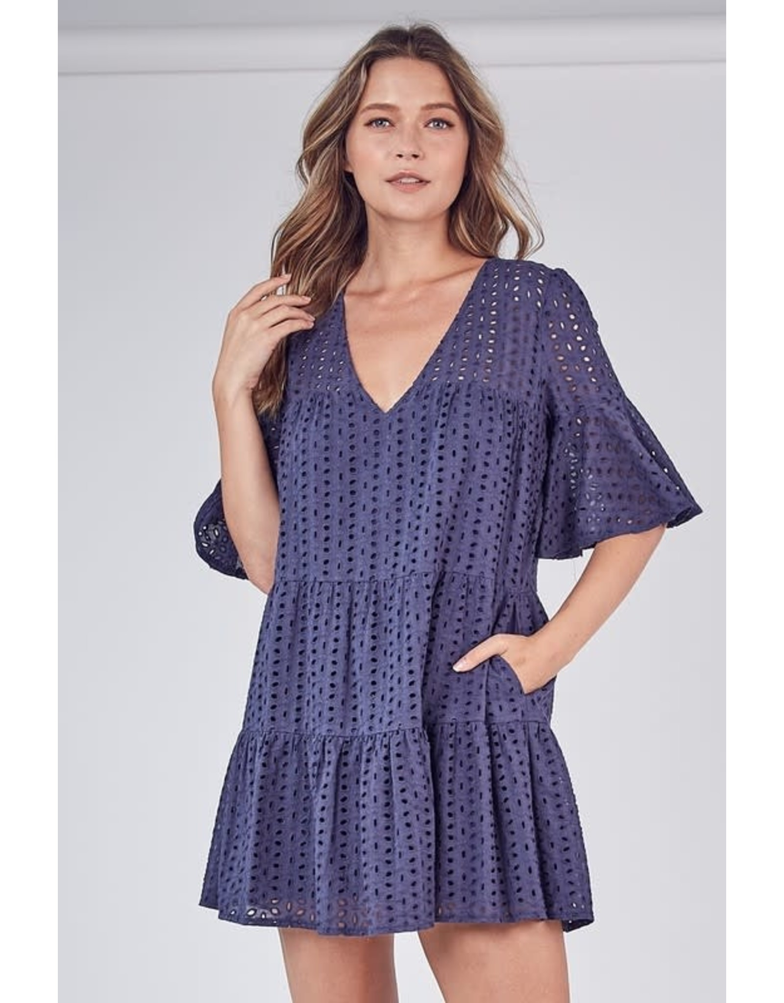 Mustard Seed Navy Madeline Dress