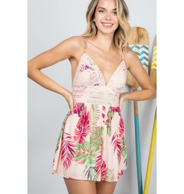 Melody Floral Lace Romper