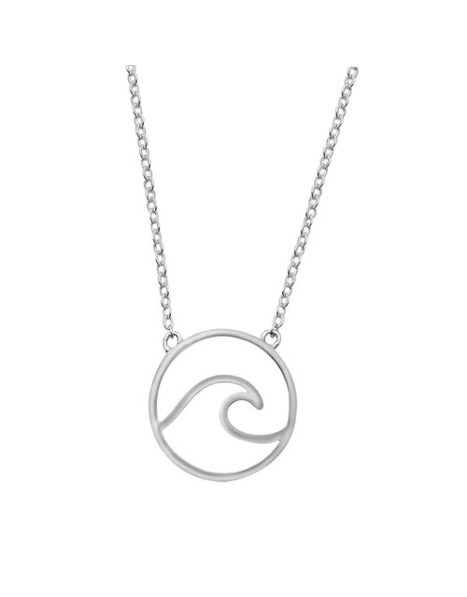 Sterling Wave Necklace