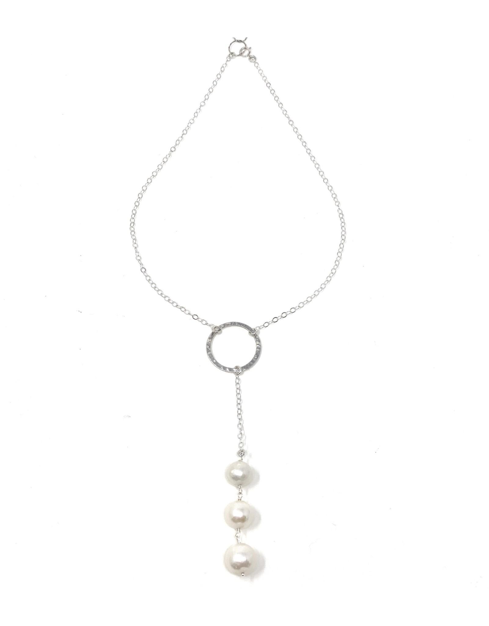 Triple FWP Drop Necklace