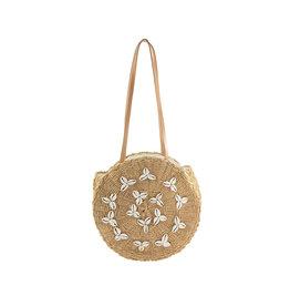 Taupe Cowrie Morea Bag