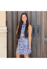 La Mer Lux Navy Leopard Alice Dress