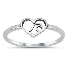 Heart Wave Ring
