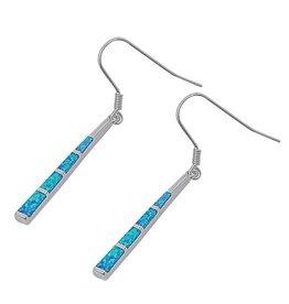 Opal Stick Drop Earrings